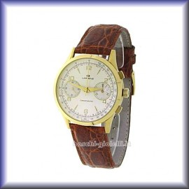 MECHANICAL CHRONOGRAPH MANUAL MOVEMENT CASE IN GOLD 18k, 38mm IN DIAMETER
