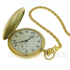 CLOCK TO POCKET IN LAMINATED STAINLESS STEEL MECHANICAL MANUAL MOVEMENT CASE 48mm IN DIAMETER