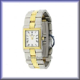 QUARTZ MOVEMENT SAPPHIRE GLASS CASE 20x28mm IN STAINLESS STEEL AND GOLD 18K  WATER RESISTANT 5 ATM.