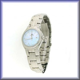 QUARTZ MOVEMENT SAPPHIRE GLASS STAINLESS STEEL CASE 30mm IN DIAMETER WATER RESISTANT 10 ATM.