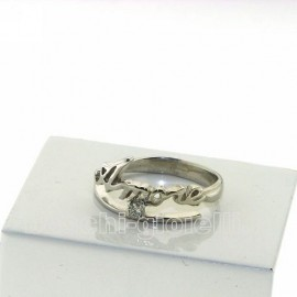 Name And Phrase Ag3 3br5 Jewelry Ring With 1 Name And Diamond P Ct 5