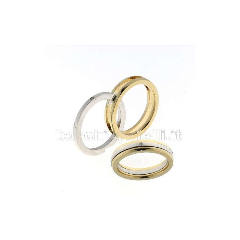 home Fedi nuziali Fedina BOSRPM2009D3 Segreto oro giallo bianco diamanti