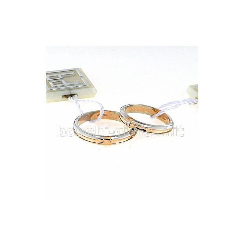 home Fedi nuziali Carlo Pignatelli CP14 Fedi oro bianco rosa dimanti
