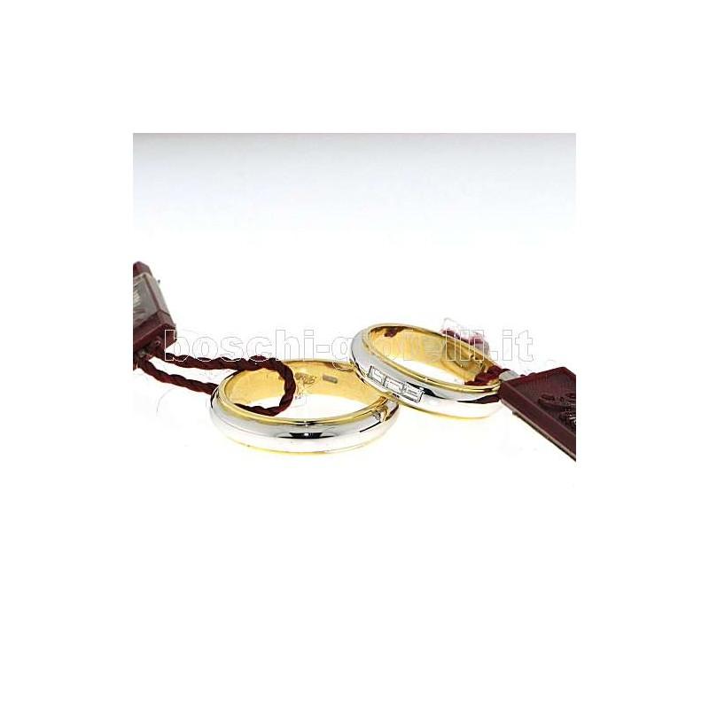 home Fedi nuziali Polello G1756 Fedi oro bianco giallo diamanti