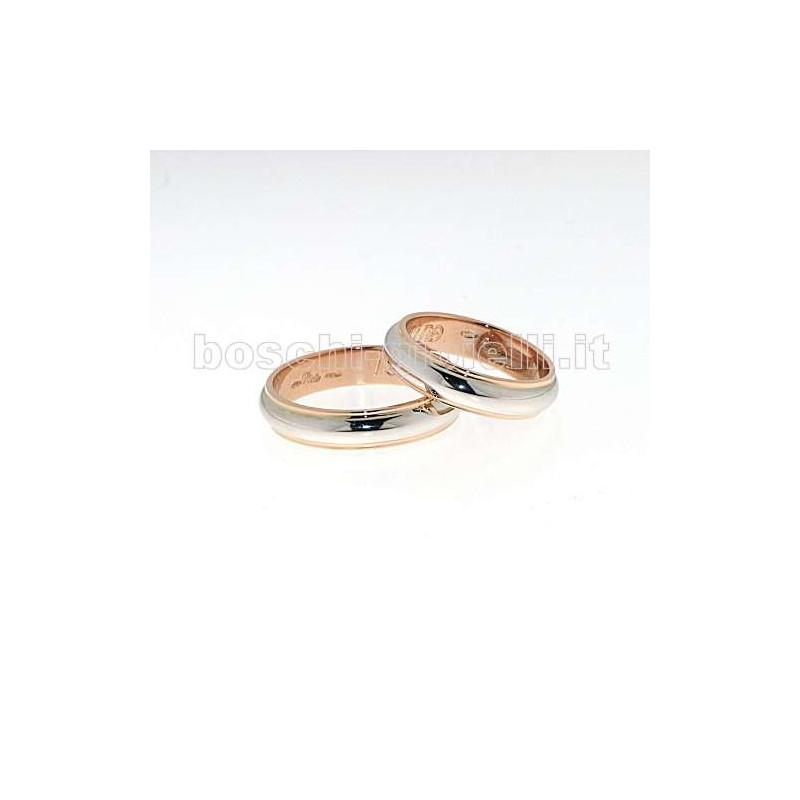 home Fedi nuziali Polello G1756BR Fedi oro bianco rosa diamanti