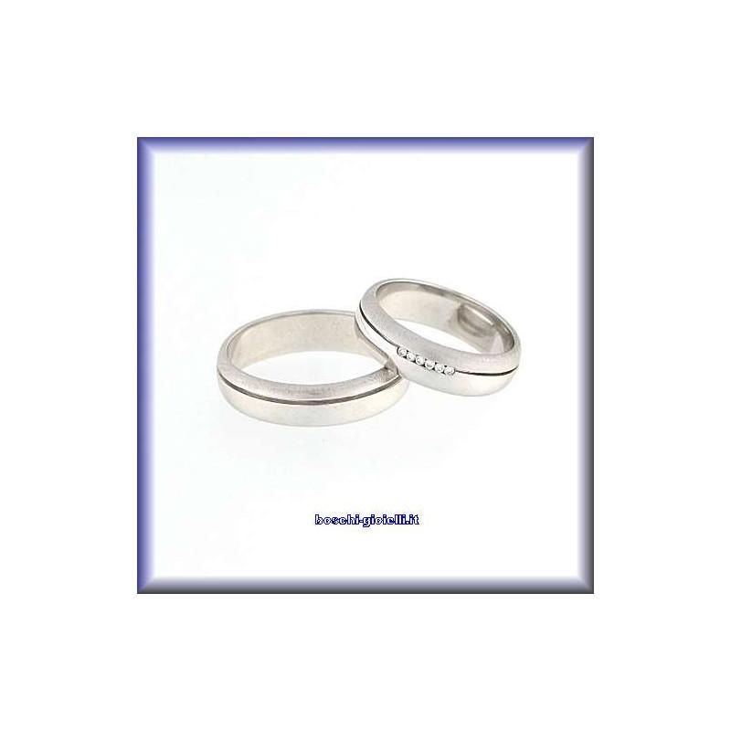 home Fedi nuziali Polello G2141B <p>Fedi nuziali oro bianco diamanti</p>