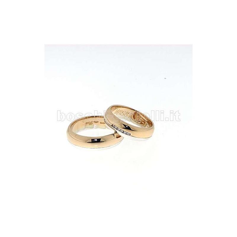 home Fedi nuziali Polello G2141BR Fedi oro bianco rosa diamanti
