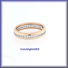 WEDDING RINGS IN GOLD 18k, PLATINUM WITH DIAMONDS,HEIGHT 4,5mm.<BR>Weights and carat are indicative and they are subject to change depending on the ring size. Contact us for a personalized quote.