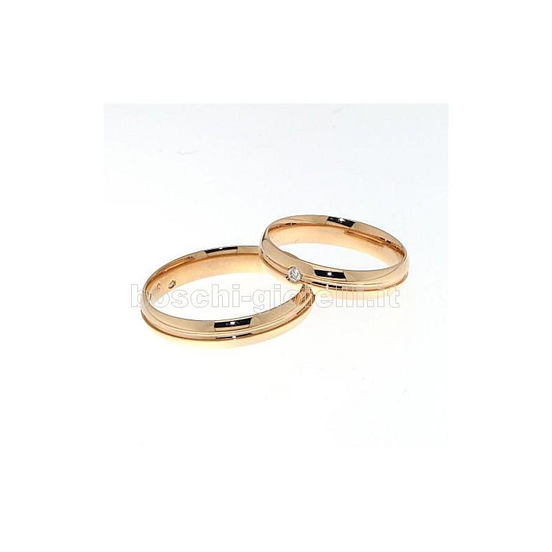 home Fedi nuziali Polello G2427R Fedi nuziali oro rosa diamanti