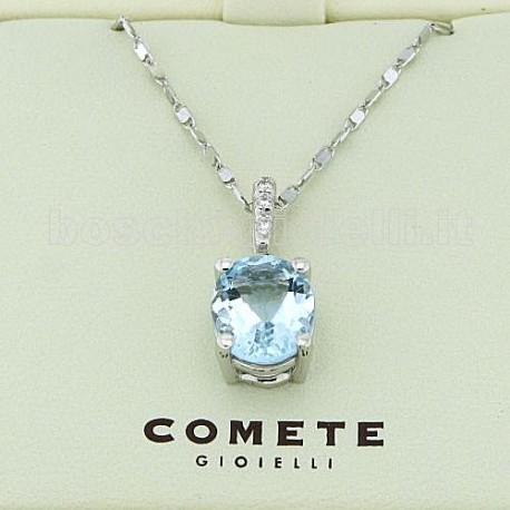Comete gioielli glq218 ciondolo acquamarina diamanti for Siti cinesi gioielli