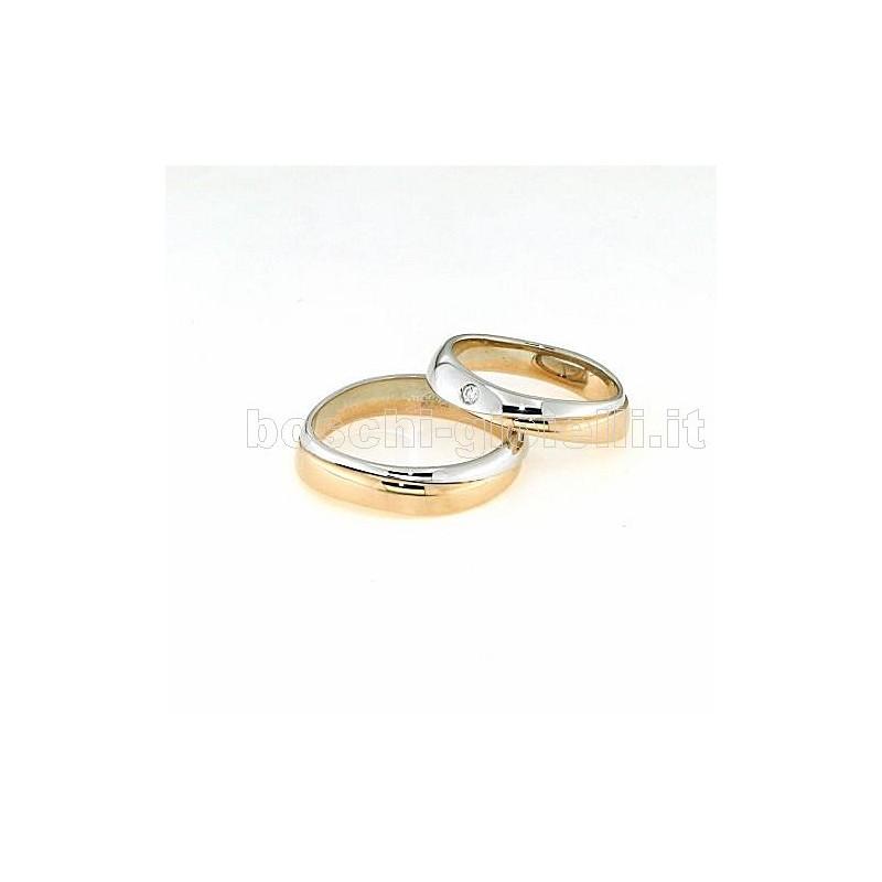 home Fedi nuziali Polello POL2497 Fedi oro rosa bianco giallo