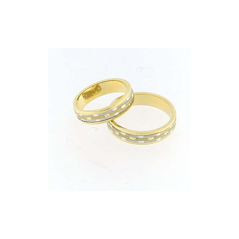 home Fedi nuziali Fedina fidanzamento BERT4500G Oro bianco giallo altezza 5mm