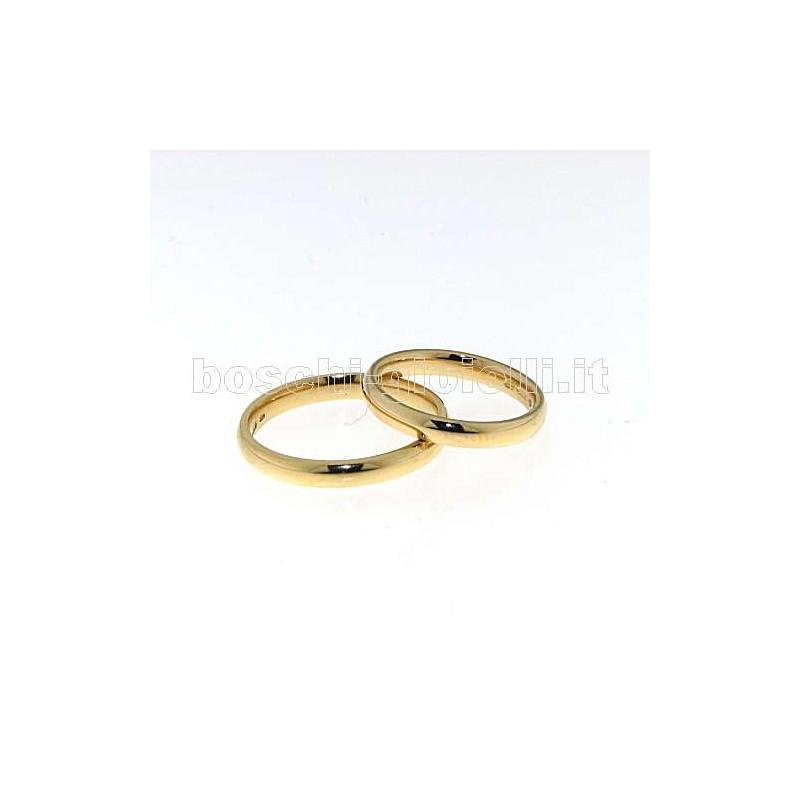 home Fedi nuziali Unoaerre FCG45 Fede comoda oro giallo altezza 3mm