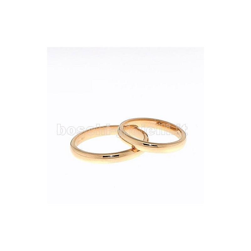 home Fedi nuziali Unoaerre FCR45 Fede comoda oro rosa altezza 3mm