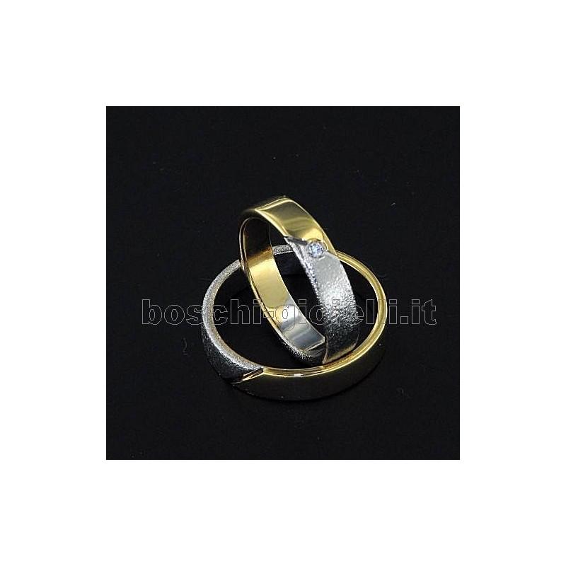 home Fedi nuziali LuiLei FL133 Fedi nuziali argento oro platino