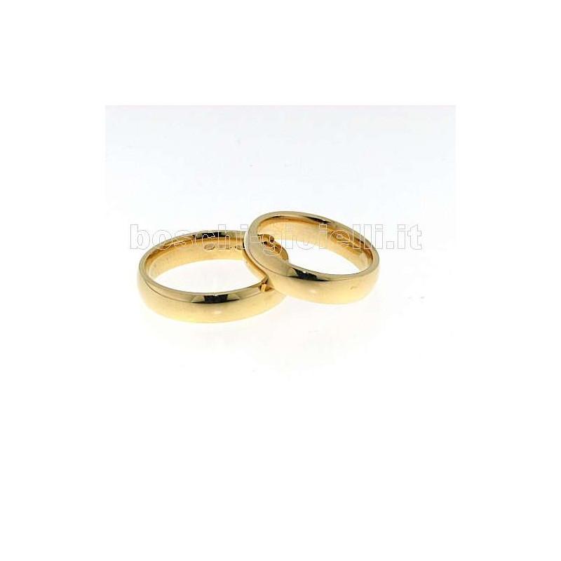 home Fedi nuziali Unoaerre MCG8 Fede comoda oro giallo altezza 5mm