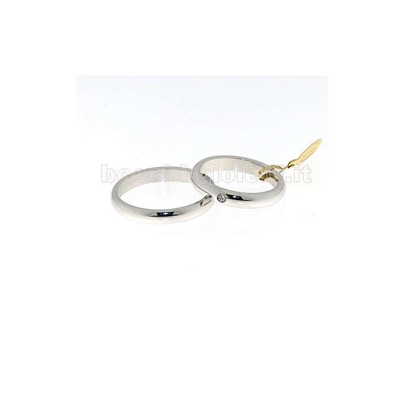 home Fedi nuziali Unoaerre NB5 Fede classica oro bianco 5 grammi