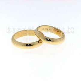 WEDDING RING GOLD 18k GR.7,0 HEIGHT 4,5mm.<BR>Weights and carat are indicative and they are subject to change depending on the ring size. Contact us for a personalized quote.