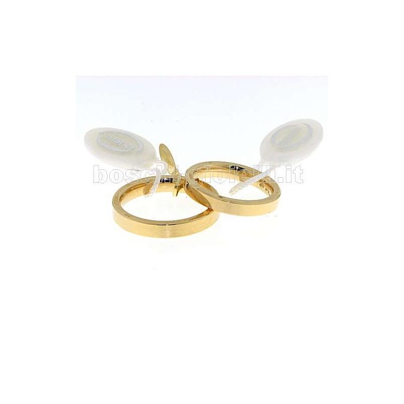 home Fedi nuziali Unoaerre Cpg3-5mm Fedina cerchi di luce oro bianco altezza 3,5mm