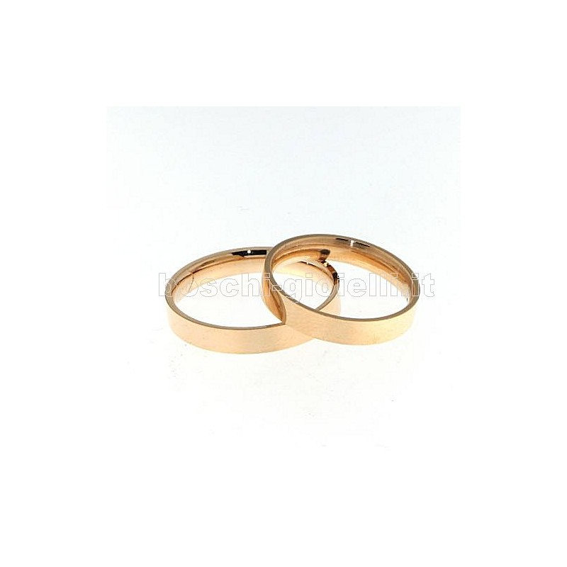 home Fedi nuziali LuiLei RCONFP3-5mm Fedina piatta oro rosa altezza 3,5mm