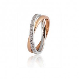From <B>Unoaerre</B> 9.0 collection, Per sempre is a comfort wedding ring in white and rose gold 750 18k, approximately 6,0/7,75 grams, 30/34 diamonds hand set 0,30/0,34 carat 2mm in height each one.<BR>Weights and carat are indicative and they are subjec